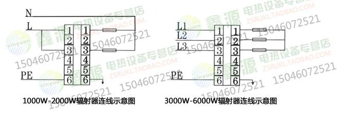 电暖器内部简易电路结构图